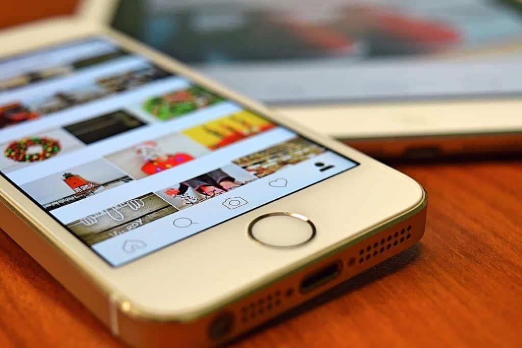 Influencer Marketing Bilder auf dem iPhone