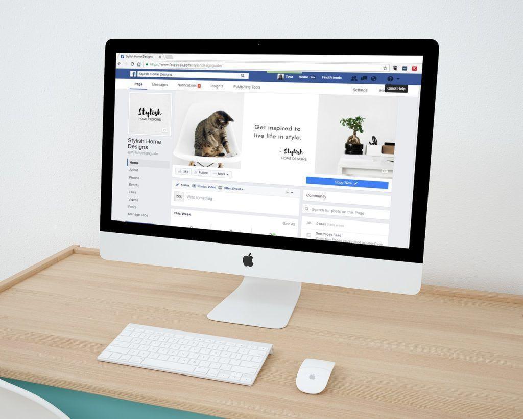 Facebook Marketing, Beispiel einer Facebook Seite