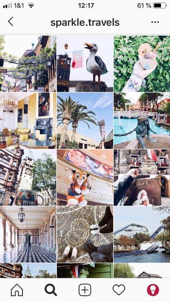 heller, einheitlicher Instagram Feed