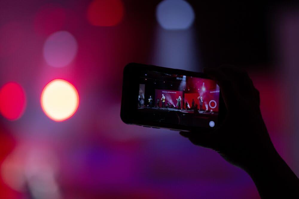 Livestream von einem Konzert