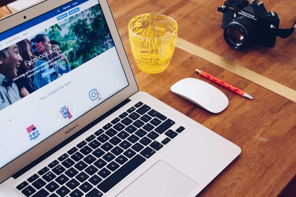 Facebook Werbemanager auf MacBook
