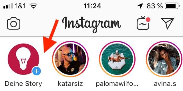 Instagram Story erstellen Anleitung