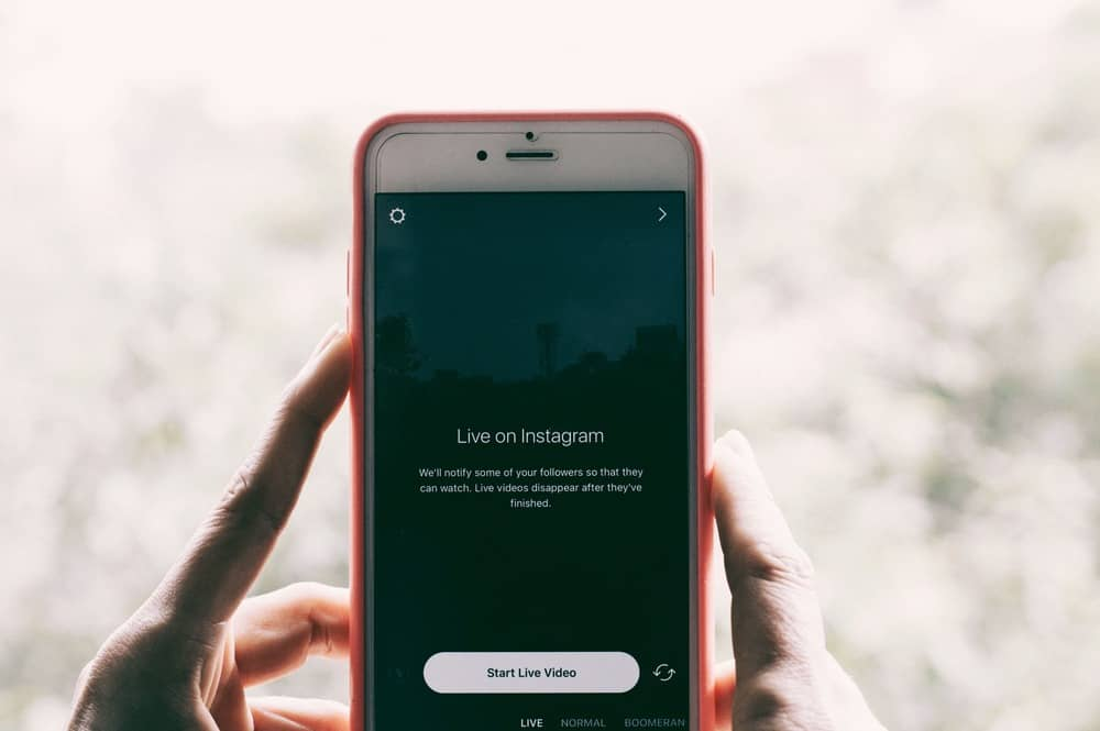 Instagram Live Video auf Smartphone