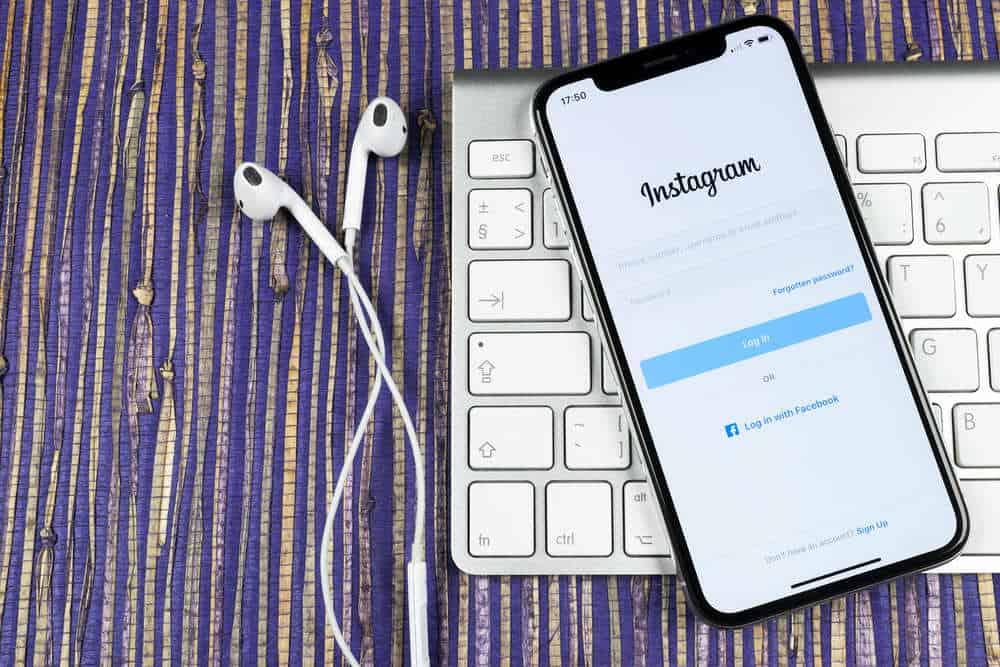 Instagram App auf IPhone offen