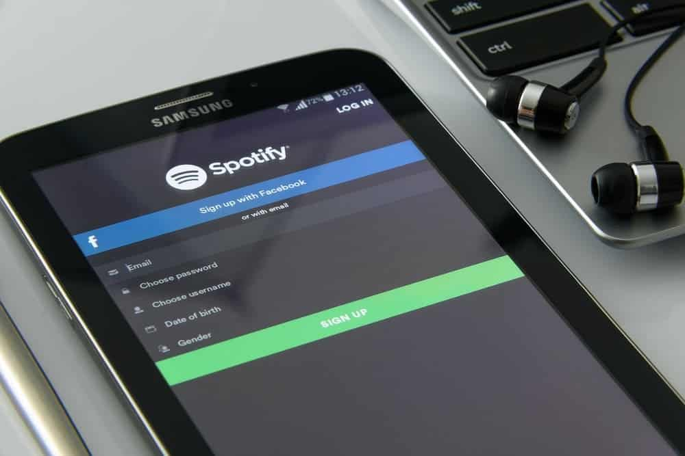 Spotify App auf Samsung Smartphone