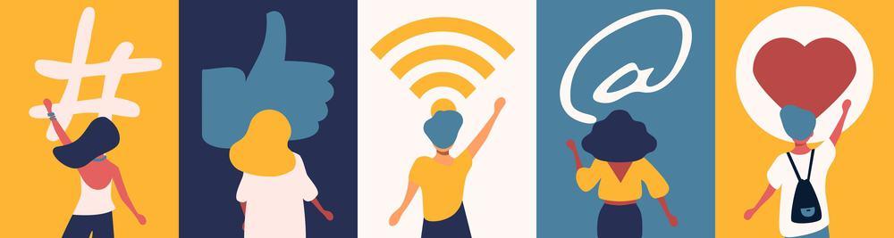 Netzwerk aufbauen, mit Leuten interagieren